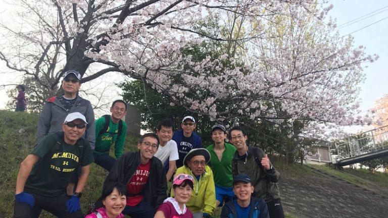モミジヤAC練習会(お花見ラン2)