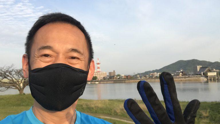 寒暖差朝ラン5キロと最近のスポーツマスク事情
